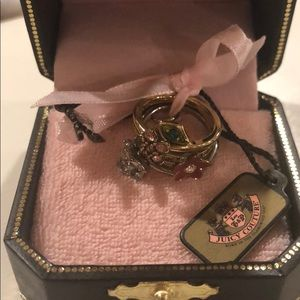 BRAND NEW $88 Juicy Couture Ring Stack